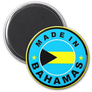 made in bahamas country flag label round stamp magnet