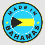 made in bahamas country flag label round stamp round sticker
