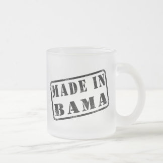 Made in Bama Frosted Glass Coffee Mug