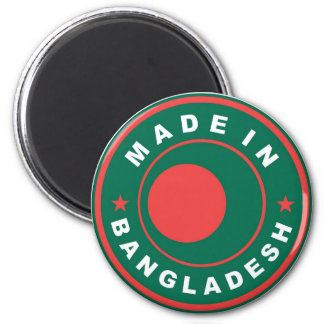made in bangladesh country flag label stamp 6 cm round magnet