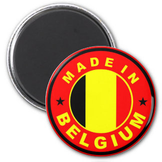 made in belgium country flag label stamp 6 cm round magnet