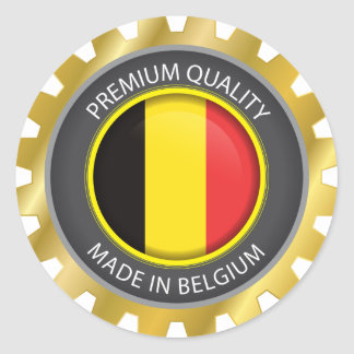 Made in Belgium Flag, Belgian Colors Seal