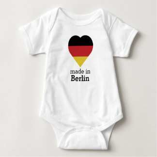 Made in Berlin heart flag Germany Deutschland Baby Bodysuit