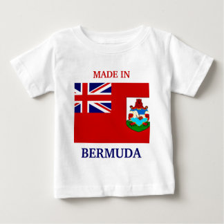 Made in Bermuda with flag of Bermuda baby shirt