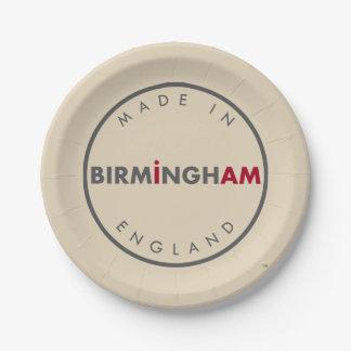 Made in Birmingham Paper Plates