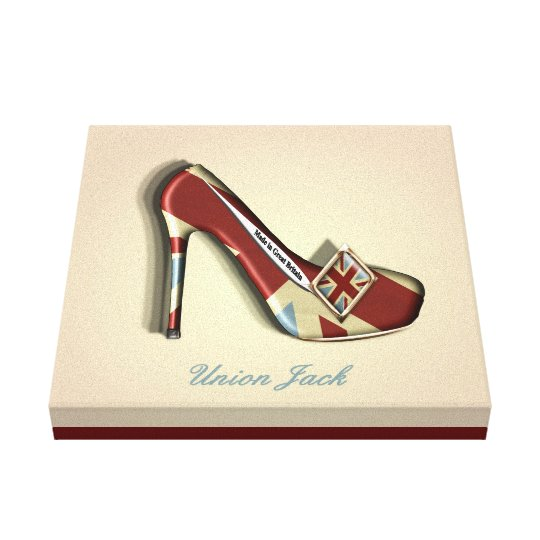 Made In Britain Union Jack Stiletto Shoe Canvas