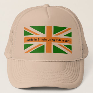 Made in Britain using Indian parts. Trucker Hat