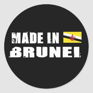 Made in Brunei Round Sticker
