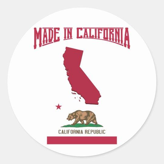 Made in California Classic Round Sticker