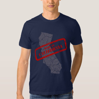 Made in California Grunge Map Navy Blue T-shirt