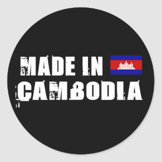 Made in Cambodia Classic Round Sticker