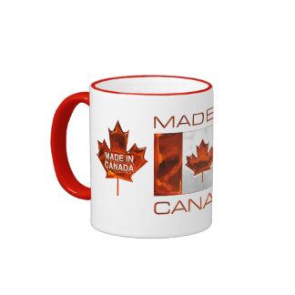 MADE IN CANADA 3D Leaf & Flag Ringer Mug