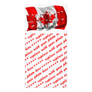 Made in Canada (Flag Background) Photo Cards