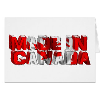 Made in Canada Flag Text Card
