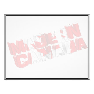 Made in Canada Flag Text Flyers