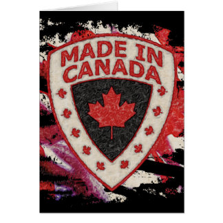 Made In Canada Greeting Card
