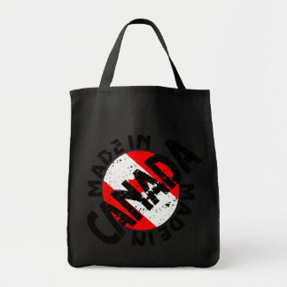 Made In Canada Label Grocery Tote