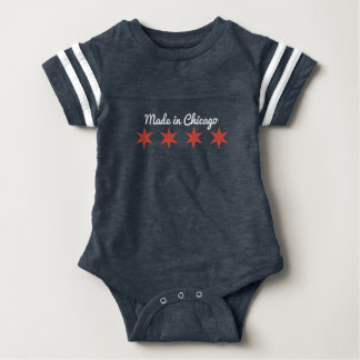 Made in Chicago Baby Jersey Romper Baby Bodysuit