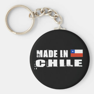 Made in Chile Basic Round Button Key Ring