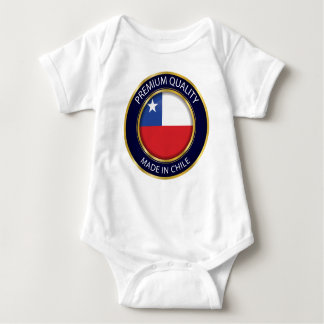 Made in Chile Seal, on Baby Cloth, Chile Flag Baby Bodysuit