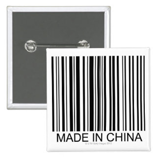 Made in China Buttons