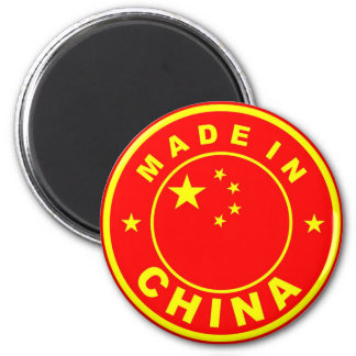 made in china country flag label stamp 6 cm round magnet