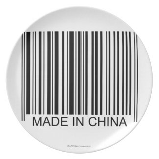Made in China Party Plate