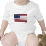 Made in China - US Flag Baby Bodysuit