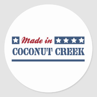 Made in Coconut Creek Round Stickers