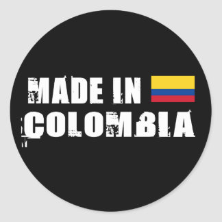 Made in Colombia Classic Round Sticker