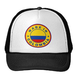 made in colombia country flag product label round cap