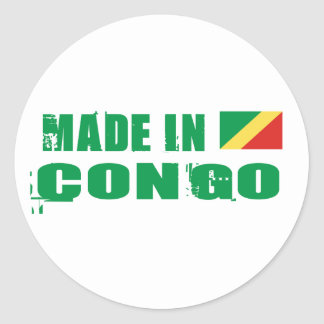Made in Congo Classic Round Sticker