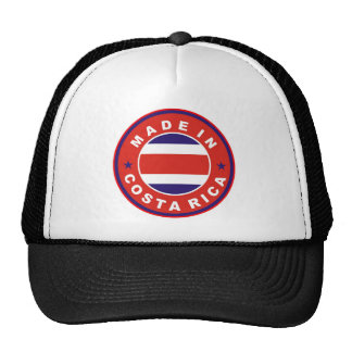 made in costa rica country flag product label mesh hat