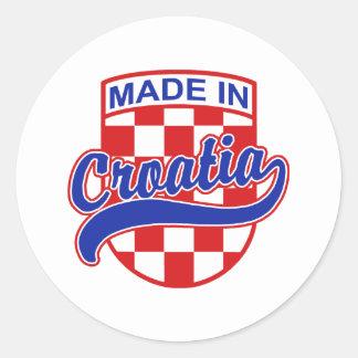 Made in Croatia Classic Round Sticker