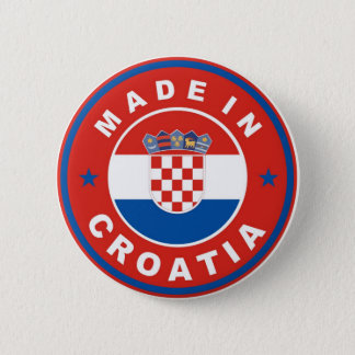 made in croatia country flag product label round 6 cm round badge