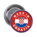 made in croatia country flag product label round pin