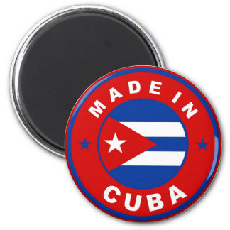 made in cuba country flag product label round 6 cm round magnet