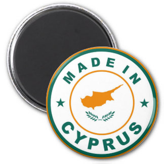 made in cyprus country flag product label round 6 cm round magnet