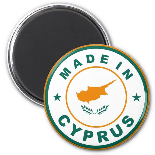 made in cyprus country flag product label round