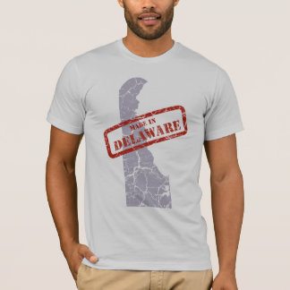 Made in Delaware Grunge Map Grey T-shirt