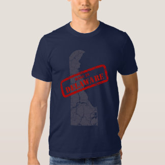 Made in Delaware Grunge Map Navy Blue T-shirt