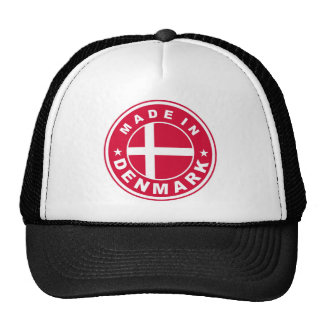 made in denmark country flag label round stamp mesh hats