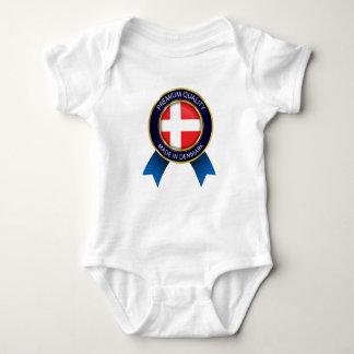Made in Denmark Flag, danish  Seal Baby cloth Baby Bodysuit