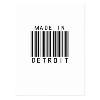 Made in Detroit Barcode Postcard