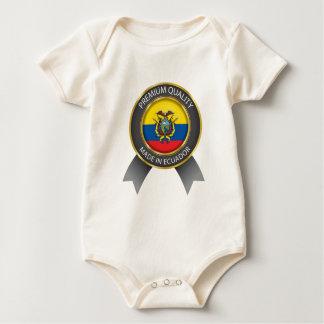 Made in  Ecuador Flag, Republic of Ecuador Colors Baby Bodysuit