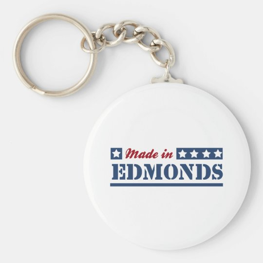 Made in Edmonds Basic Round Button Key Ring