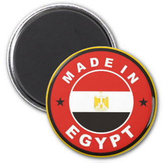made in egypt country flag label round stamp 6 cm round magnet