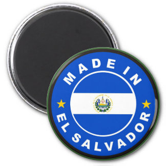 made in el salvador country flag product label 6 cm round magnet