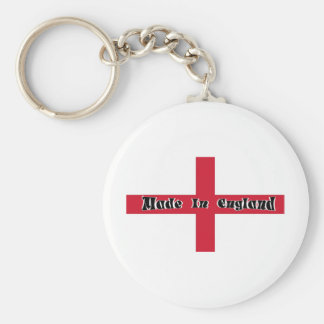 Made In England Basic Round Button Key Ring