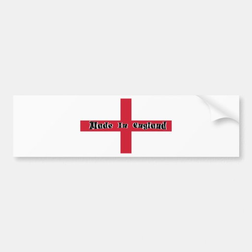 Made In England Bumper Sticker